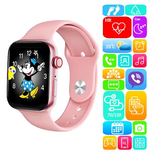 Smart Watch Series 6 M443, 100% копия 44mm Aluminium, Viber, беспроводная зарядка, pink