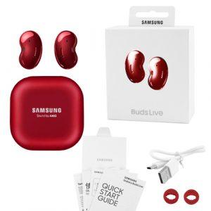 Беспроводные bluetooth-наушники Samsung Galaxy Buds Live с кейсом, red
